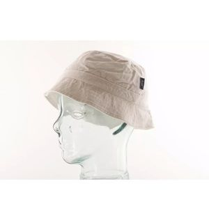 French Connection FCUK White Cotton Bucket Hat M